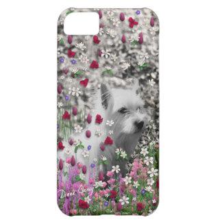 Violet in Flowers – White Westie Dog iPhone 5C Case