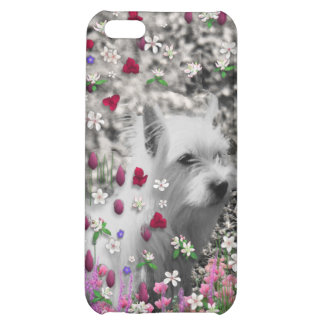 Violet in Flowers – White Westie Dog iPhone 5C Cases
