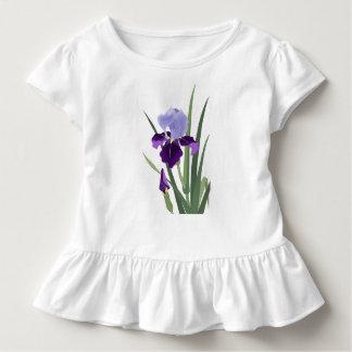 Violet Irises Toddler Ruffle Tee