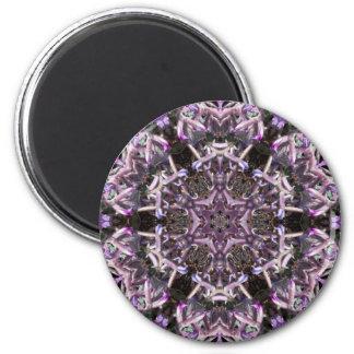 Violet Kaleidoscopic Flower Star Magnet