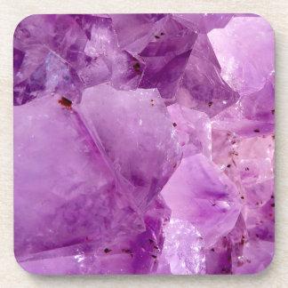 Violet Kryptonite Crystals Coaster