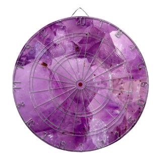 Violet Kryptonite Crystals Dartboard