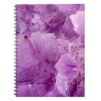 Violet Kryptonite Crystals Notebooks