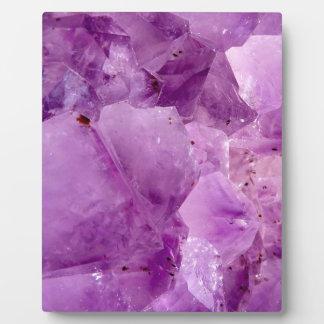 Violet Kryptonite Crystals Plaque