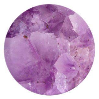 Violet Kryptonite Crystals Plate