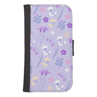 violet,lavender,cute,floral,pink,purple,pattern,gi samsung s4 wallet case