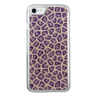 Violet Leopard Carved iPhone 8/7 Case