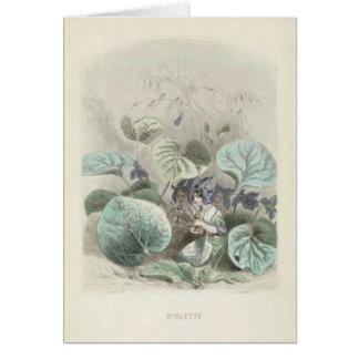 Violet Les Fleurs Card
