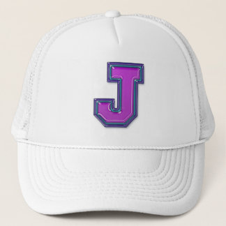 Violet Letter J Trucker Hat