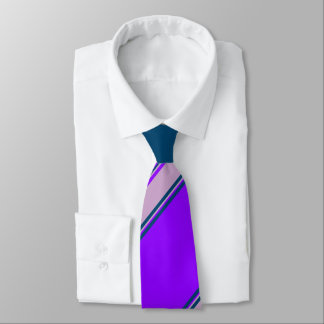 Violet Lilac and Indigo University Stripe Tie