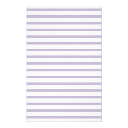 Violet Lined Paper Stripes for Notes Stationery
