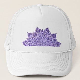 Violet Lotus Crown Chakra Mandala Trucker Hat