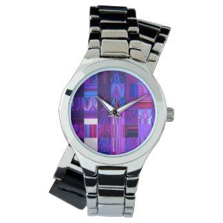 Violet Mélange Women's Wraparound Silver Watch