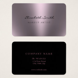 Violet Metallic Look Double Sided Business Card