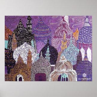 Violet Mosquescape Poster