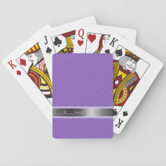 Violet Named Waves Playing Cards