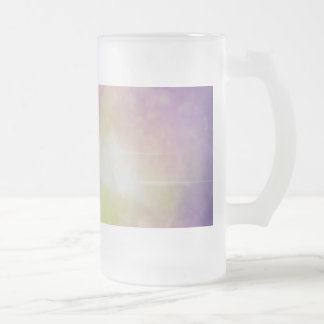 Violet Nebula Frosted Glass Beer Mug