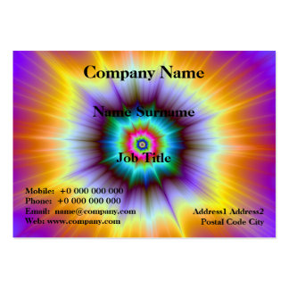 Violet Orange and Turquoise Explosion Card Pack Of Chubby Business Cards