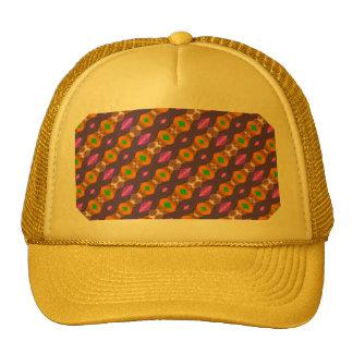 Violet Orange Chains Abstract Pattern Trucker Hats