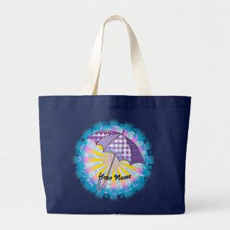 Violet Parasol custom name Tote Bag