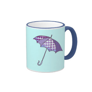 Violet Parasol Coffee Mugs