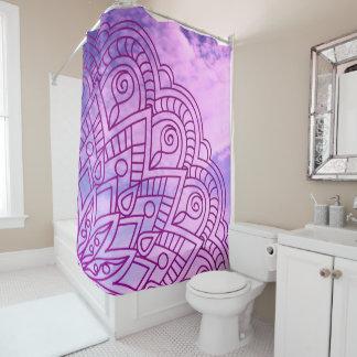 violet pattern of sends it shower curtain
