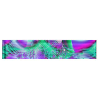 Violet Peacock Feathers, Abstract Crystal Mint Nameplate