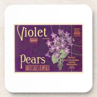 Violet Pears Drink Coaster