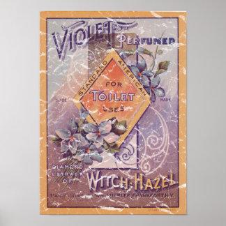 Violet Perfumed - 1903- distressed Poster