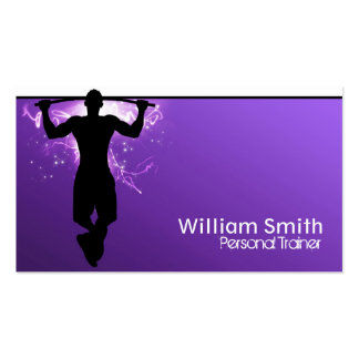 Violet Personal Trainer Business Card