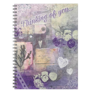 Violet Petals - Thinking of You - Journal