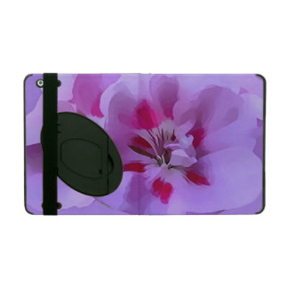 Violet Pink Abstract Hibiscus Flower iPad Folio Case