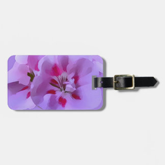 Violet Pink Abstract Hibiscus Flower Luggage Tag