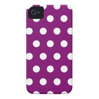 Violet Polka Dot iPhone 4 Case
