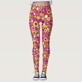 Violet Polka Dot Pattern Leggings