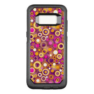 Violet Polka Dot Pattern OtterBox Commuter Samsung Galaxy S8 Case