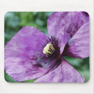 Violet Poppy Mouse Pad