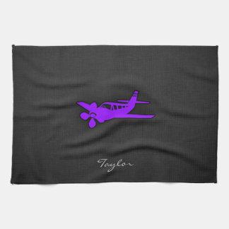 Violet Purple Airplane Hand Towel