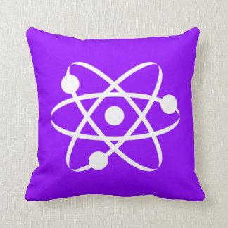 Violet Purple Atom Cushion