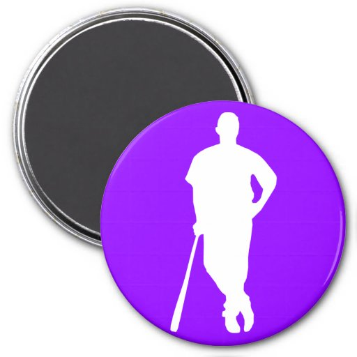 Violet Purple Baseball, Softball Refrigerator Magnets