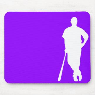 Violet Purple Baseball, Softball Mouse Pad