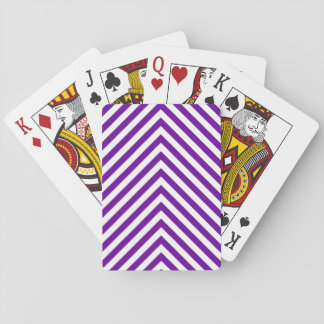 Violet Purple Big Zigzag Playing Cards
