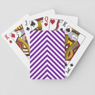 Violet Purple Big Zigzag Poker Deck