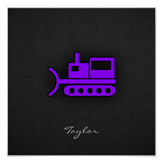 Violet Purple Bulldozer Poster