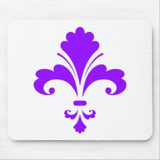 Violet Purple Fleur-de-lis Mousepads