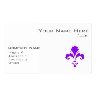 Violet Purple Fleur-de-lis Pack Of Standard Business Cards