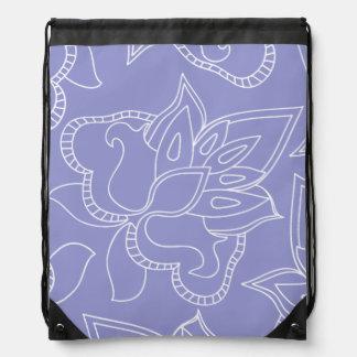 Violet Purple Floral Backpack