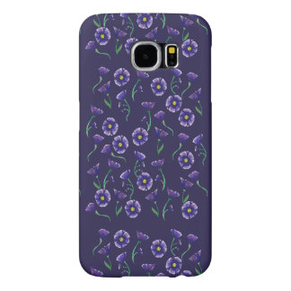 Violet Purple Flower Samsung Galaxy S6 Cases