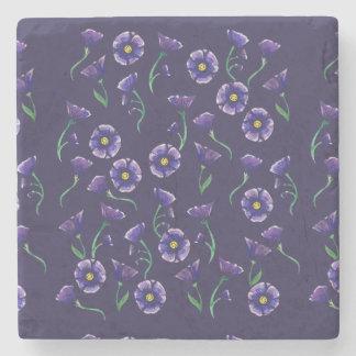 Violet Purple Flower Stone Coaster