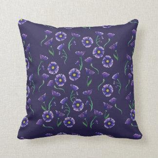 Violet Purple Flower Throw Pillow
